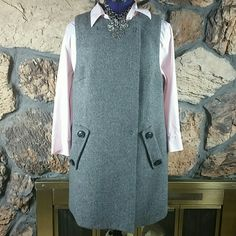 The Limited jumper/vest with free blouse Darling jumper/ vest which you can pair with jeggings & boots. You can wear as a vest with pants or skirt. (M/L) FREE pink button down blouse (size medium) from Casual Corner included. The Limited Jackets & Coats Vests