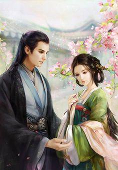 Asian art Chinese painting Phoenix Chosen by phoenixlu on DeviantArt Beautiful Drawings, Beautiful Artwork, Fantasy Kunst, Fantasy Art, Manga Art, Anime Art, Fantasy Love, China Art, Wow Art