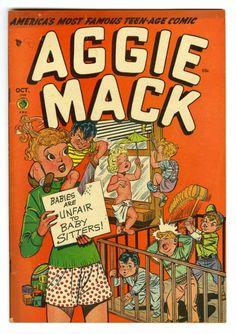 "Golden Age (1938-1955):Humor, Aggie Mack #3 Davis Crippen (""D"" Copy) pedigree (Four Star, 1948) Condition: VF. Jack Kamen cover. Overstreet 2006 VF 8.0 va..."