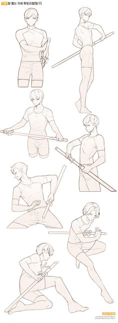 Sketch Poses, Drawing Poses, Fighting Drawing, Fighting Poses, Human Poses Reference, Poses References, Drawing Expressions, Art Drawings Sketches Simple, Anatomy Art