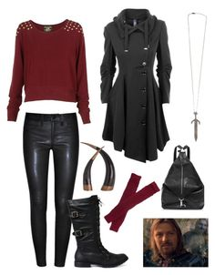 """boromir"" by nichole42293 ❤ liked on Polyvore featuring J Brand, FSMNYC, Arteriors, Topshop, Trasparenze and Council"
