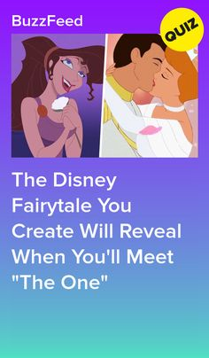 "The Disney Fairytale You Create Will Reveal When You'll Meet ""The One"" Disney Test, Disney Prom, Disney Quiz, Funny Disney, Princess Quizzes, Disney Princess Quiz, Disney Love Songs, Disney Quotes, Teenage Crush Quotes"