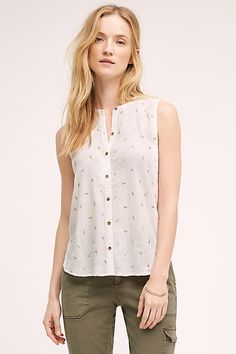 Antalya Buttondown Tank / anthropologie.com
