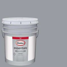 5 gal. #HDGCN38 Cool Metalwork Grey Flat Interior Paint