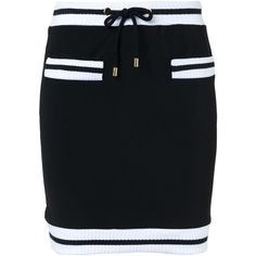 34b7923ab4 Moschino contrast trim mini skirt (€380) ❤ liked on Polyvore featuring  skirts