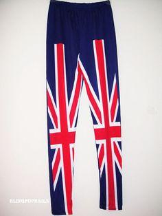 UK Flag Women Sexy Rock Punk Funky   Leggings on Etsy, $8.99