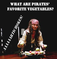 Pirate Lunch Joke Vegetables