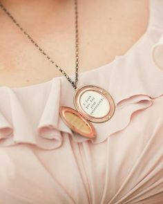 a locket for each bridesmaid with reason why they're loved. So sweet and sentimental. <3