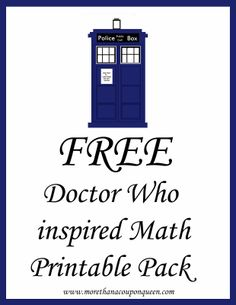 Free Doctor Who Inspired Math Printable Pack