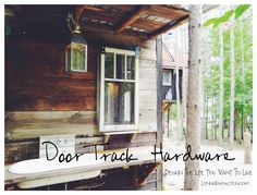 Do it yourself barn door hardware http://www.lynneknowlton.com/diy-door-track-hardware-its-dbomb-dot-com/ Sliding Door Track, Barn Door Track, Sliding Barn Door Hardware, Sliding Doors, Tiny Cabins, Diy Door, Wooden Wheel, Old Barn Doors, Old Barns