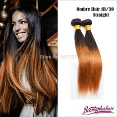 Cheap Mixed lot Brazilian Straight hair extensions Ombre brazilian hair weave two toned Brazilian human hair wefts 30 Cheap Human Hair, 100 Human Hair, Human Hair Wigs, Weave Hairstyles, Straight Hairstyles, Hair Weft, Hair Weaves, Red Hair Color, Ombre Color