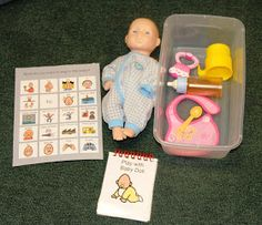 Considerate Classroom: Early Childhood Special Education Edition: Building Functional Pretend Play Centers- showing students how to functionally play with the baby. Autism Classroom, Classroom Activities, Learning Activities, Learning Quotes, Education Quotes, Childcare Activities, Education Logo, Preschool Classroom, Kindergarten