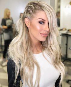 penteado com trança lateral cabelo solto