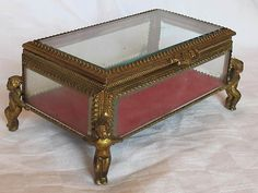 Vintage Cherub Footed Jewelry Casket