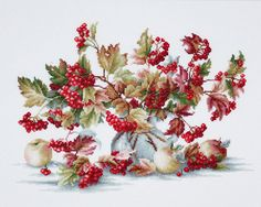 Counted Cross Stitch Kit Guelder Rose Counted Cross Stitch
