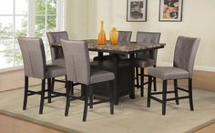 3e4b784c719c Mariano Furniture - D111 - 7 Piece Counter Height Dining Table Set - BQ -D111CH7