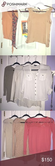 (2) ADDITIONAL PHOTOS 37 PIECE LOT SIZE SMALL see additional photos and original listing!! Forever 21 Tops