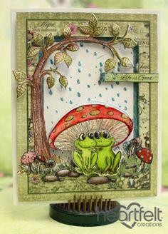 Heartfelt Creations   Mushroom And Winking Frog