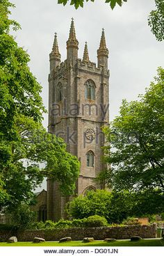 Newyorck Houss in Luxury Extreme | St Pancras Church, Widecombe-in-the-Moor, Devon, England - Stock Image
