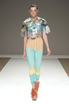 Jane Bowler is an english fashion designer, immediately well-known after graduating from the RCA, for her innovative approach to the workmanship of inexpensive and alternative materials, particularly plastics and latex.