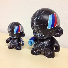4in Motorsport Munny hand painted by emKel BMW