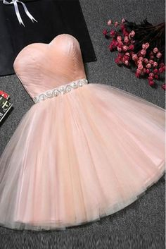 Hot Sale Trendy Beaded/Beading Homecoming Dresses, Pink A-line/Princess Homecoming Dresses, Short Pink Prom Dresses, Sweetheart Blush Pink Tulle A Line Beading Short Homecoming/Prom Dresses,Sweet 16 Dresses Champagne Homecoming Dresses, Cute Homecoming Dresses, Prom Dresses For Teens, Prom Dresses 2018, Cheap Prom Dresses, Prom Party Dresses, School Dresses, Dress Party, Teen Dresses