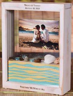 Wedding Unity Sand Ceremony Frame - SAND WON'T MIX - Distressed White