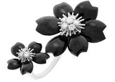 the black or the white?: rose-de-noel-ring-van-cleef-and-arpels Van Cleef Arpels, Ss, Brooch, Turquoise, Pearls, Rings, Black, Jewelry, Design