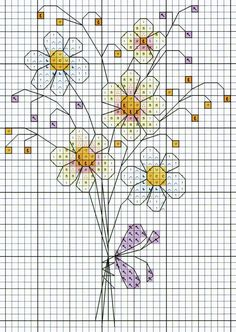 'Bunch of Flowers' from Michael Powell's 'Mini Cross Stitch' book (paperback, pub. Small Cross Stitch, Cross Stitch Books, Cross Stitch Cards, Cross Stitch Flowers, Cross Stitch Kits, Counted Cross Stitch Patterns, Cross Stitch Designs, Cross Stitching, Cross Stitch Embroidery