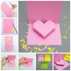 tarjeta 3d corazón