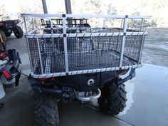 Custom ATV Dog Boxes, available for almost any atv. Airline Pet Carrier, Dog Carrier, Wood Dog Crate, Dog Crates, Dog Box For Truck, Dog Kennel Designs, Us Forest Service, Atv Accessories, Hiking Dogs