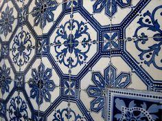 Streets of Lisbon, Portugal - tile - tiles - tiling - pattern - Portuguese photography - mosaic - Azulejo - Azulejos - Blue -8x10 - on Etsy, $30.00
