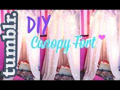 DIY Tumblr Inspired Canopy/Fort | The Classy It Girl #DIY #diycanopy #diyfort DIY Hula Hoop Canopy