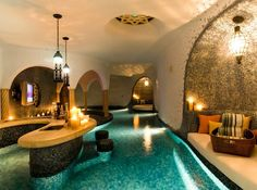 "basement ""water lounge"" YES! A girl can dream right?"