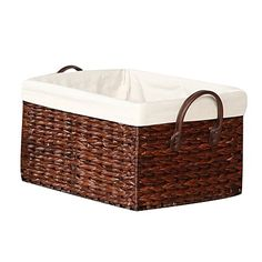 Burma Brown Wicker Basket 60cm x 39cm x 26cm   Cane Baskets     Basket with Handles Large x x   Baskets   Home Decor   Homewares   The  Warehouse