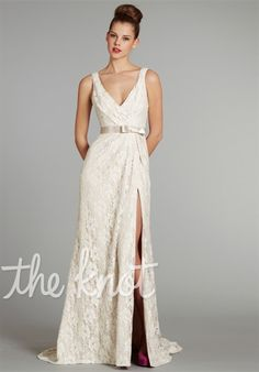 Jim Hjelm Blush #1256 - the side slit would be a great opportunity to show off a great pair of boots