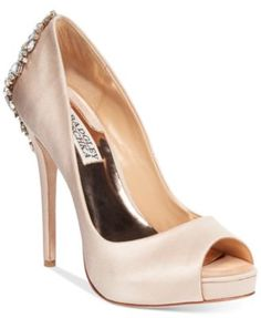 Badgley Mischka Kiara Platform Evening Pumps | macys.com