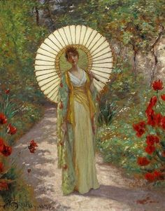 William John Hennessy ~ The Japanese Parasol ~ (Irish: 1839-1917)