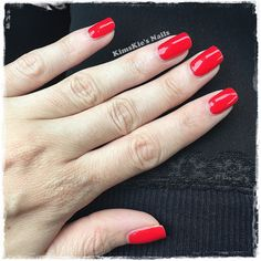 KimsKies Nails: OPI Infinite Shine - Unrepentantly Red #kimskienails Great Nails, Cute Nail Art, Cute Nails, Happy Nails, Double Team, Red Dragon, Nail Art Galleries, Gorgeous Nails, Nails Magazine