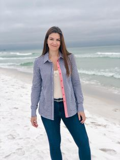 Review of made-in-the-UK tall gingham shirt from Allta, a tall brand that specializes in ethically and sustainably made tall clothes