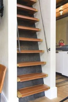 steep stair solution for a small space