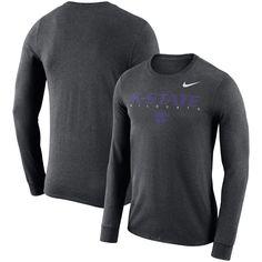 fe83b3c50 Kansas State Wildcats Nike 2018 Facility Dri-FIT Cotton Long Sleeve T-Shirt  – Charcoal