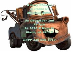 Dinsey Pixar cars personalized baby shower invitations