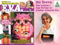 amanda pin revista + e.v.a com pintura country