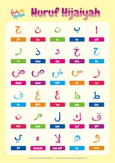 Gratis Printable Favorit : Mewarnai Huruf Hijaiyah Vol. Arabic Alphabet Letters, Arabic Alphabet For Kids, Learn Quran, Learn Islam, Moslem, Learn Arabic Online, Arabic Phrases, Arabic Lessons, Islam For Kids