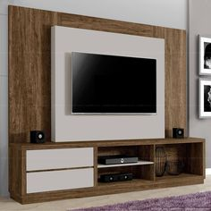 Amazing 30 TV Stand Design Ideas - Engineering Discoveries Living Room With Fireplace, New Living Room, Fireplace Brick, Small Room Bedroom, Small Rooms, Small Spaces, Modern Tv Wall Units, Tv Unit Decor, Rack Tv