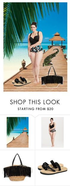 """watch out! 🐊"" by skylovessave ❤ liked on Polyvore featuring Brewster Home Fashions, Torrid and Sun N' Sand"