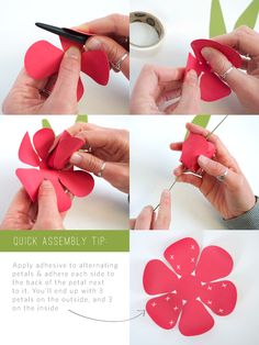 How to make 3D Paper Tulips with your Silhouette - quick assembly directions