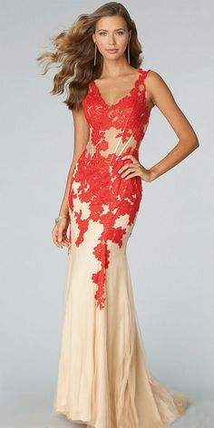 Long red prom dresses sale