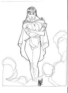 Adam Hughes Con Sketch, in EthanRoberts's Phantom Lady Comic Art Gallery Room - 978522